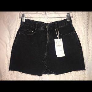 Zara Black Denim Skirt- Size S